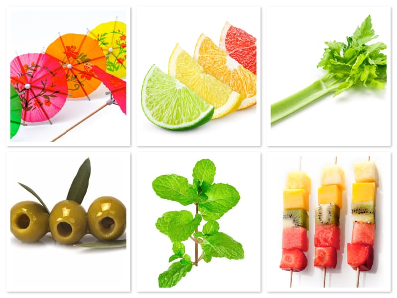 This photo demonstrates the importance of garnishes, which are far more than just decorations. (© collage/123RF photo)