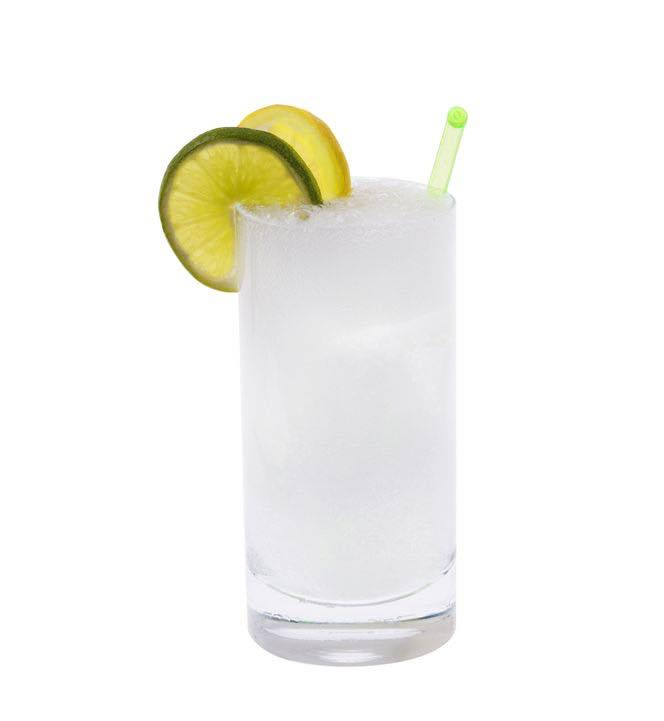Photo shows a Gin Fizz cocktail in a serving glass, mixed and ready to drink. (© gpalmer1477/123RF photo)