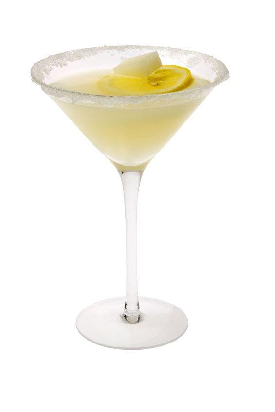 Photo shows a Lemon Drop Martini in a serving glass, mixed and ready to drink. (© gpalmer1477/123RF photo)