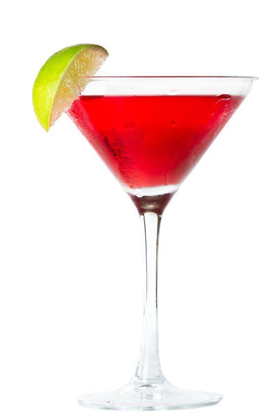 Photo shows a Pink Martini cocktail in a serving glass, mixed and ready to drink. (© wollertz/123RF photo)