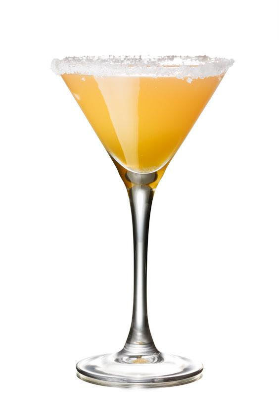This photo shows the bartender what a Sidecar cocktail looks like when it's mixed and ready to drink. (© maxsol7/123RF photo)
