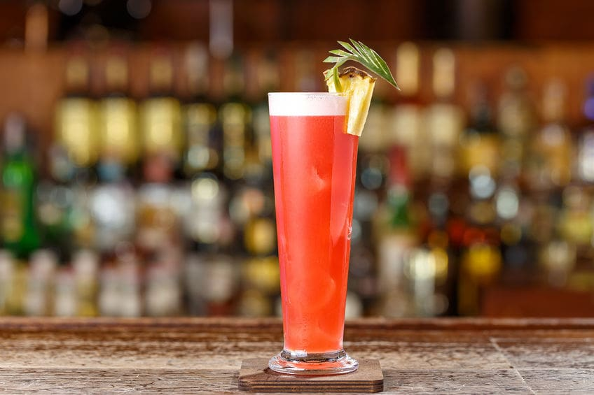 This photo of a classic Singapore Sling reminds bartenders of the importance of writing down recipes and tasting notes, so they don't get lost in time. (© alexshyripa/123RF photo)