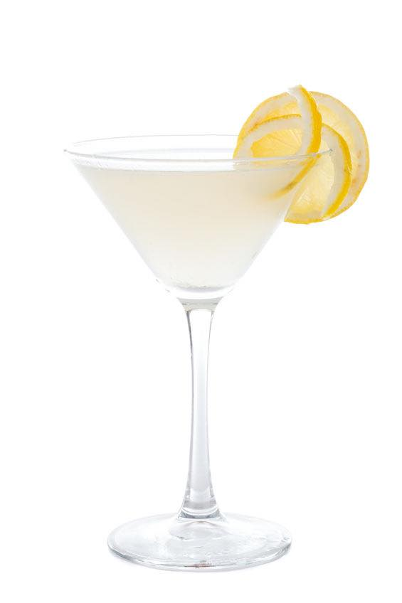 Photo shows a Vesper cocktail in a serving glass, mixed and ready to drink. (© lighthunter/123RF photo)